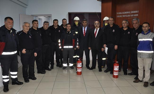 İtfaiye Müdürlüğü Yangın Tatbikatlarına devam ediyor