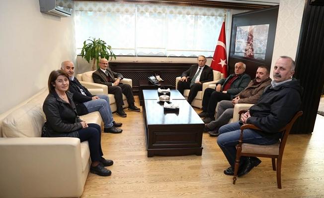 MAHALLE MUHTARLARI, VALİ DOĞANAY'I ZİYARET ETTİ