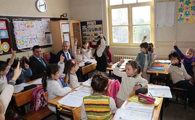 Vali DİRİM, Okul İncelemelerine Devam Ediyor