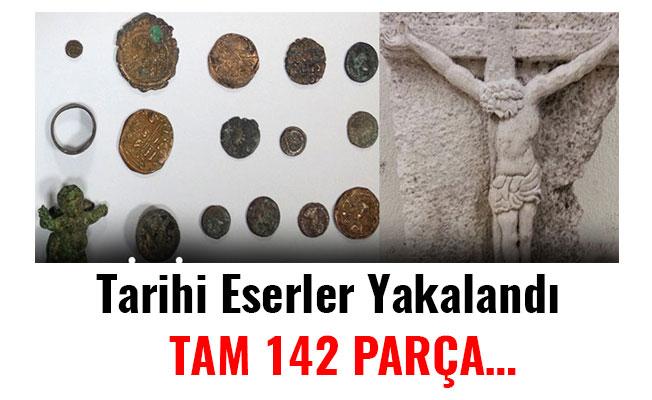 Tarihi Eserler Yakalandı