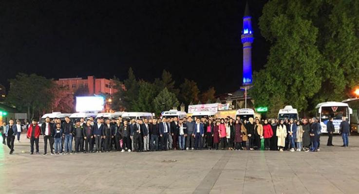 AK Gençlik Karaman'dan Yola Çıktı