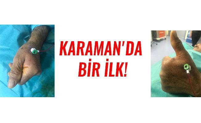 KARAMAN'DA BİR İLK!