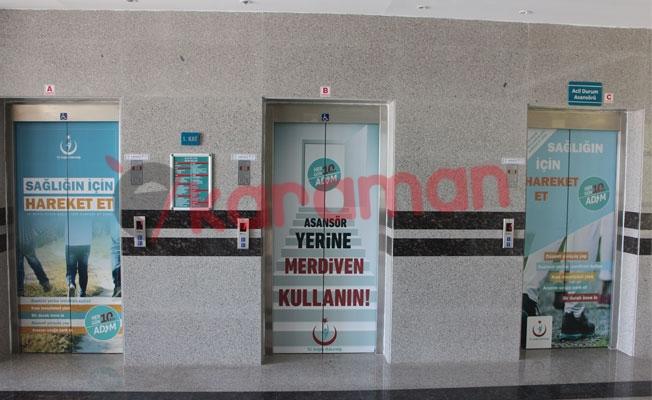 Karaman Devlet Hastanesi Asansörleri Bakımdan Geçti