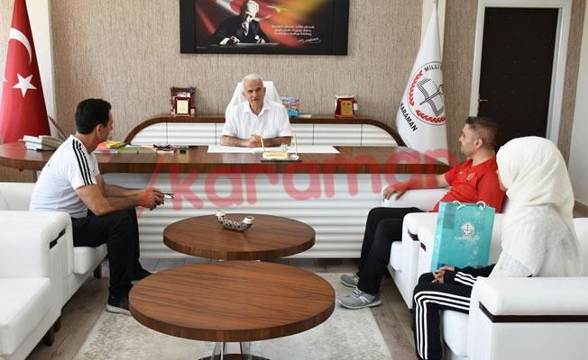 Türkiye Şampiyonu Taekwondocudan Kuntoğlu'na Ziyaret