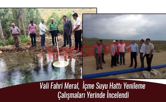 Vali Fahri Meral,  İçme Suyu Hattı Yenileme Çalışmaları Yerinde İncelendi