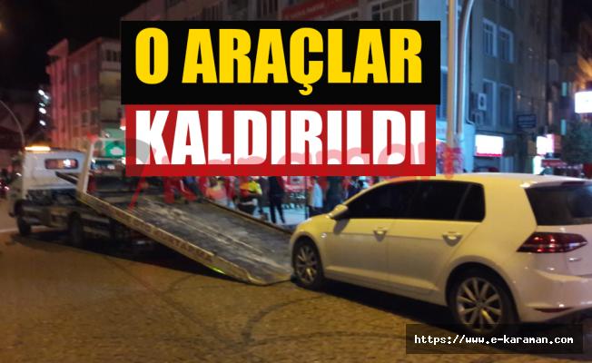 O ARAÇLAR KALDIRILDI
