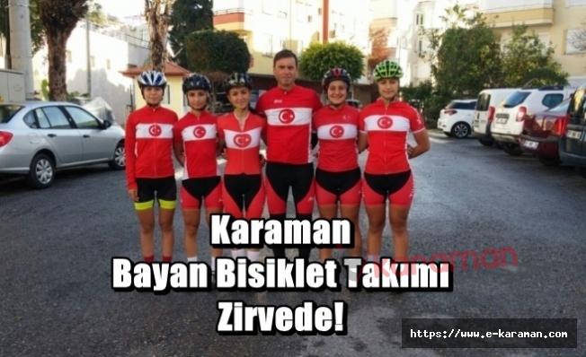 Karaman Bayan Bisiklet Takımı Zirvede!