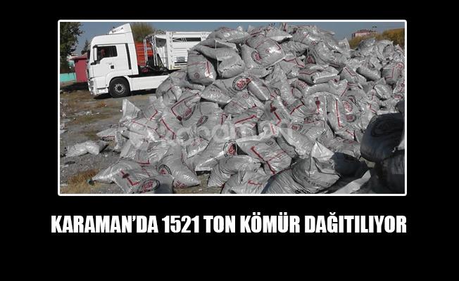KARAMAN'DA 1521 TON KÖMÜR DAĞITILIYOR