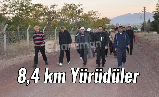 8,4 km Yürüdüler