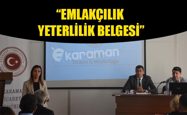 """""""EMLAKÇILIK YETERLİLİK BELGESİ"""""""