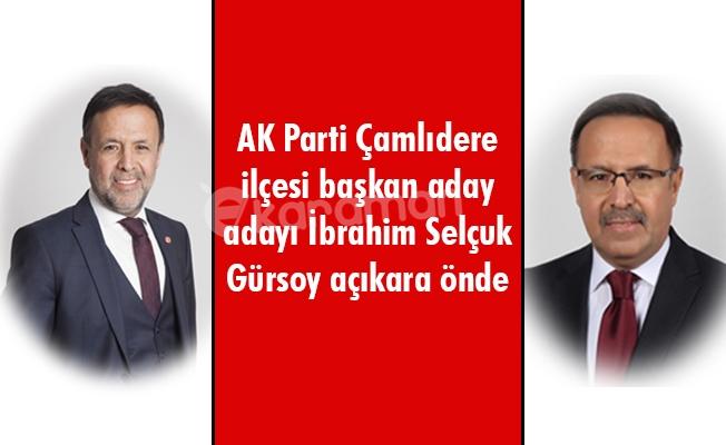 AK Parti Çamlıdere ilçesi başkan aday adayı İbrahim Selçuk Gürsoy açıkara önde