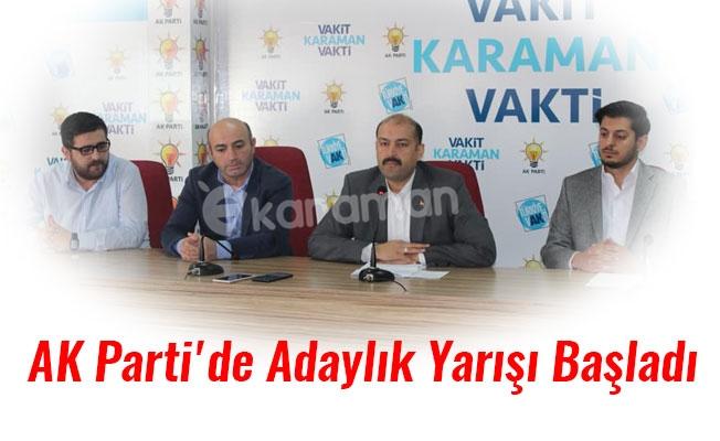 AK Parti'de Adaylık Yarışı Başladı