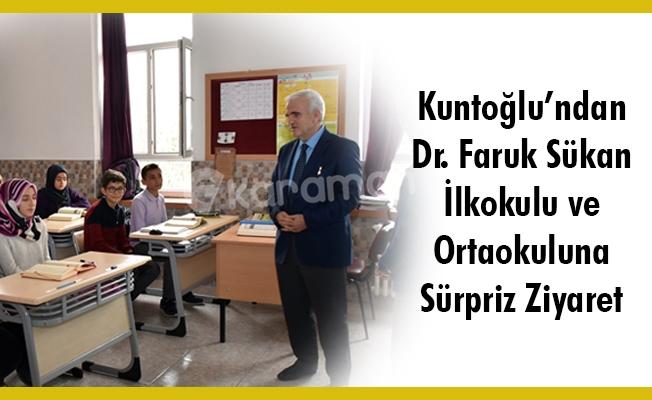 Kuntoğlu'ndan Dr. Faruk Sükan İlkokulu ve Ortaokuluna Sürpriz Ziyaret