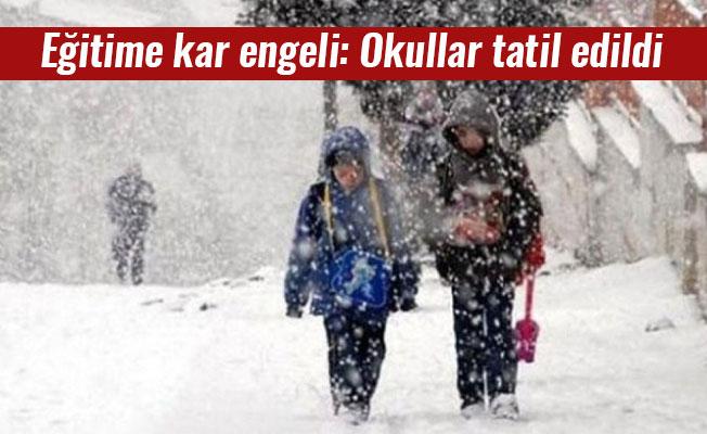 Eğitime kar engeli: Okullar tatil edildi