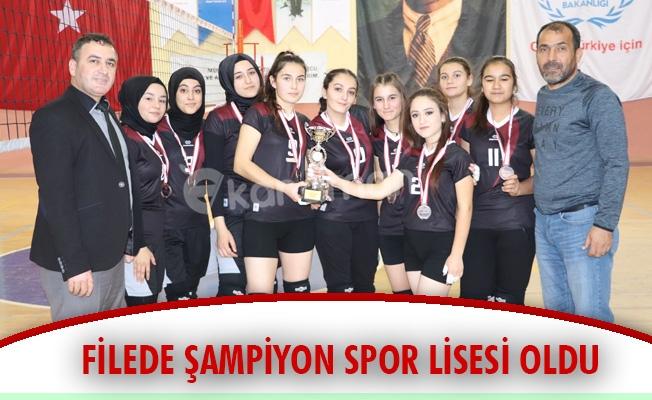 FİLEDE ŞAMPİYON SPOR LİSESİ OLDU