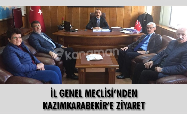 İL GENEL MECLİSİ'NDEN KAZIMKARABEKİR'E ZİYARET