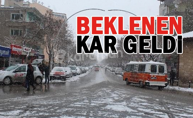Karaman'da Kar Yağışı Başladı
