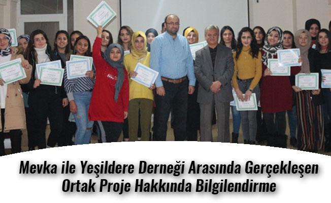 Mevka ile Yeşildere Derneği Arasında Gerçekleşen Ortak Proje Hakkında Bilgilendirme