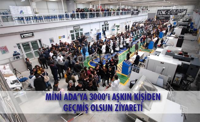 MİNİ ADA'YA 3000'i AŞKIN KİŞİDEN GEÇMİŞ OLSUN ZİYARETİ