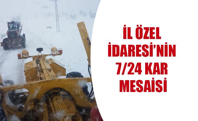 İL ÖZEL İDARESİ'NİN 7/24 KAR MESAİSİ