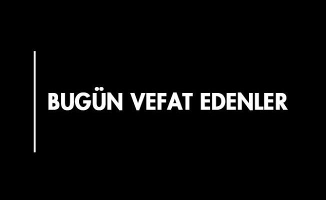 KARAMAN'DA BUGÜN VEFAT EDENLER - 29.01.2019