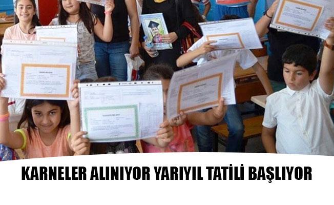 KARNELER ALINIYOR YARIYIL TATİLİ BAŞLIYOR