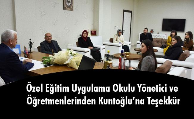 Özel Eğitim Uygulama Okulu Yönetici ve Öğretmenlerinden Kuntoğlu'na Teşekkür