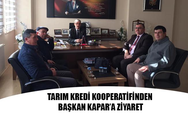 TARIM KREDİ KOOPERATİFİNDEN BAŞKAN KAPAR'A ZİYARET