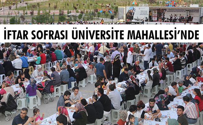 İFTAR SOFRASI ÜNİVERSİTE MAHALLESİ'NDE