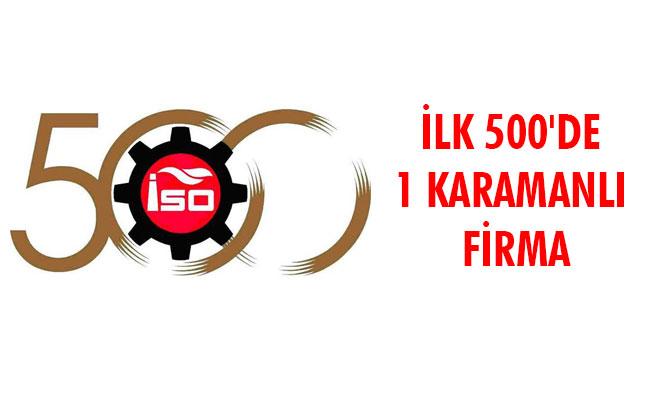 İLK 500'DE 1 KARAMANLI FİRMA