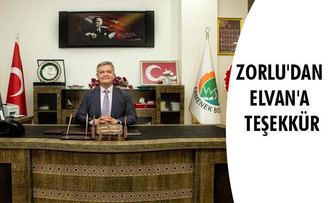 ZORLU'DAN ELVAN'A TEŞEKKÜR