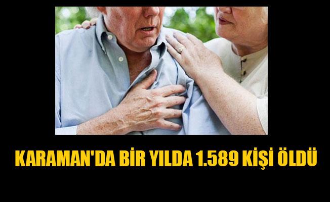 KARAMAN'DA BİR YILDA 1.589 KİŞİ ÖLDÜ