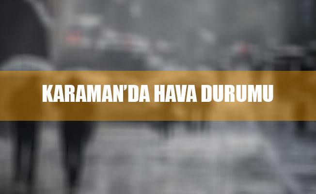 KARAMAN'DA SAĞANAK YAĞIŞ UYARISI!