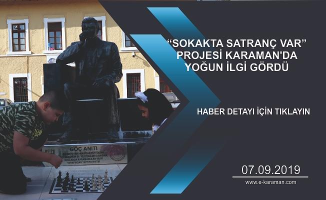 """KARAMAN'DA """"SOKAKTA SATRANÇ VAR"""" ETKİNLİĞİ"""