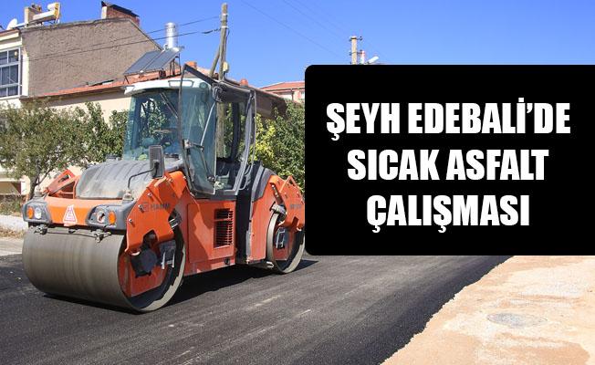 ŞEYH EDEBALİ'DE SICAK ASFALT ÇALIŞMASI