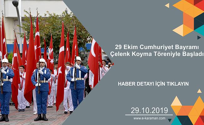 29 Ekim Cumhuriyet Bayramı Çelenk Koyma Töreniyle Başladı