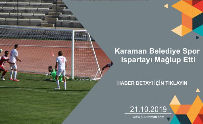 Karaman Belediye Spor Ispartayı Mağlup Etti