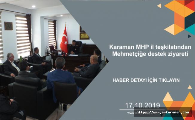 Karaman MHP il teşkilatından Mehmetçiğe destek ziyareti