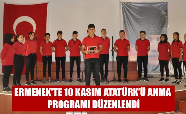ERMENEK'TE 10 KASIM ATATÜRK'Ü ANMA PROGRAMI DÜZENLENDİ