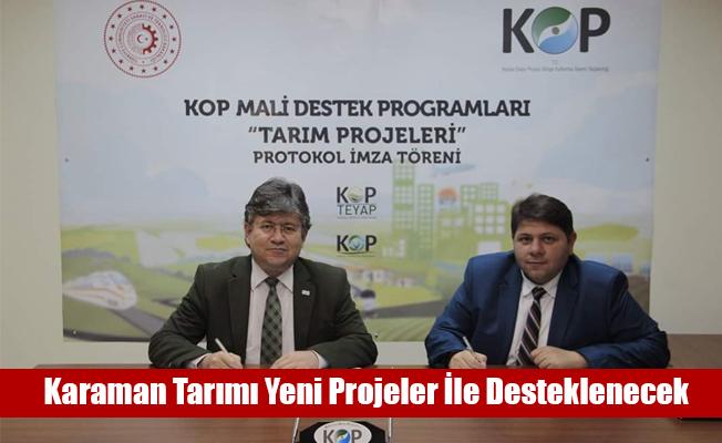 Karaman Tarımı Yeni Projeler İle Desteklenecek