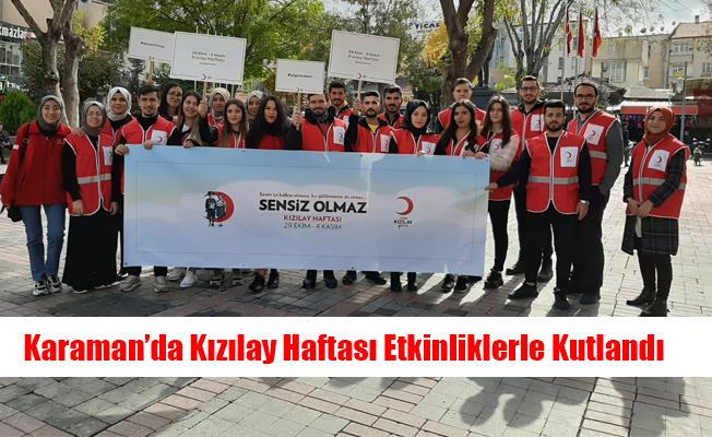 Karaman'da Kızılay Haftası Etkinliklerle Kutlandı