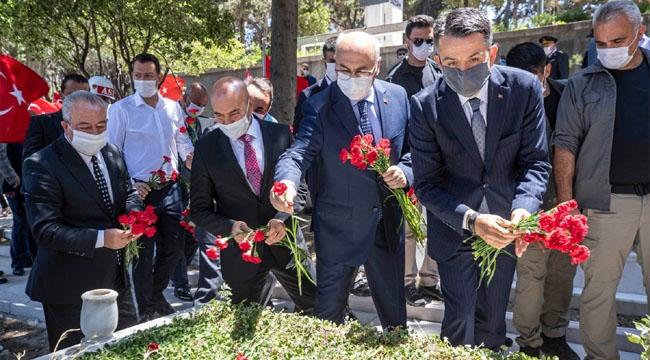 15 Temmuz Demokrasi ve Milli Birlik Günü'nde şehitler anıldı