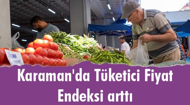 Karaman'da Tüketici Fiyatları Endeksinde Artış