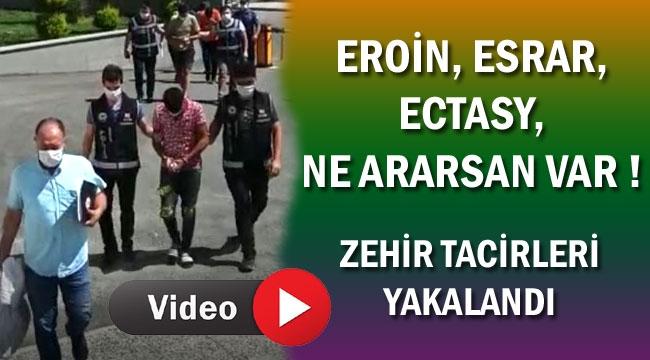 POLİS ZEHİR TACİRLERİNİ YAKALADI