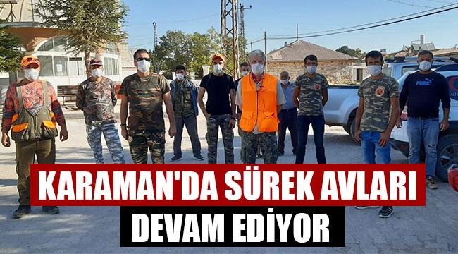 KARAMAN'DA SÜREK AVLARI DEVAM EDİYOR