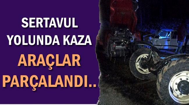 SERTAVUL'DA FECİ KAZA 2 YARALI