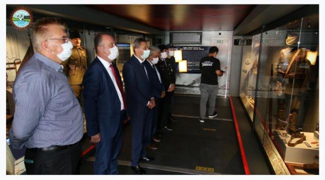 Belediye Başkanımız Barış AYHAN, ilimize gelen Çanakkale Savaşları Mobil Müzesi'ni ziyaret etti.