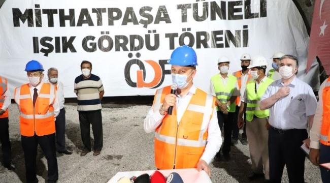 Mithatpaşa Tünelleri 'Işık Gördü' Töreni Yapıldı