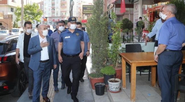 Vali ve Büyükşehir Belediye Başkan V. Demirtaş'tan Koronavirüs Denetimi