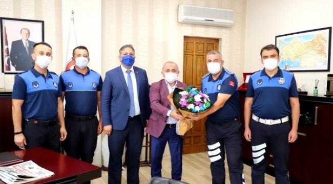 Zabıta Ekibinden Başkan Esen'e Ziyaret
